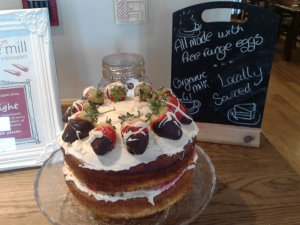 One delicious strawberry and vanilla sponge ...