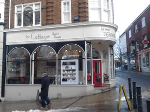The Cottage Hair & Beauty in snowy Norwich