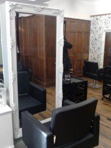 Gorgeous shabby chic salon