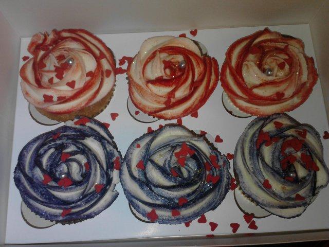 Claire's Valentine Rose Cupcakes